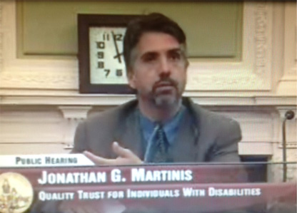 Jonathon Martinis testifying